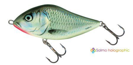SLIDER   FLOATING 10CM /HOLO GREY SHINER