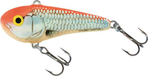 CHUBBY DARTER SINKING 3 CM - SILVER RED ORANGE