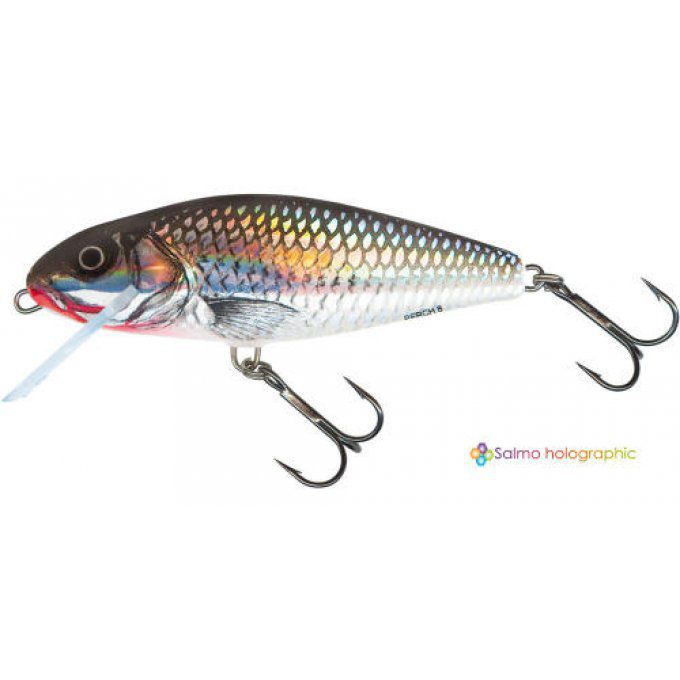 PERCH SUPER DEEP RUNNER 12 CM -  HOLO GREY SHINER