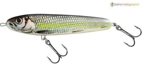 SWEEPER SINKING 14 CM - SILVER CHARTREUSE SHAD