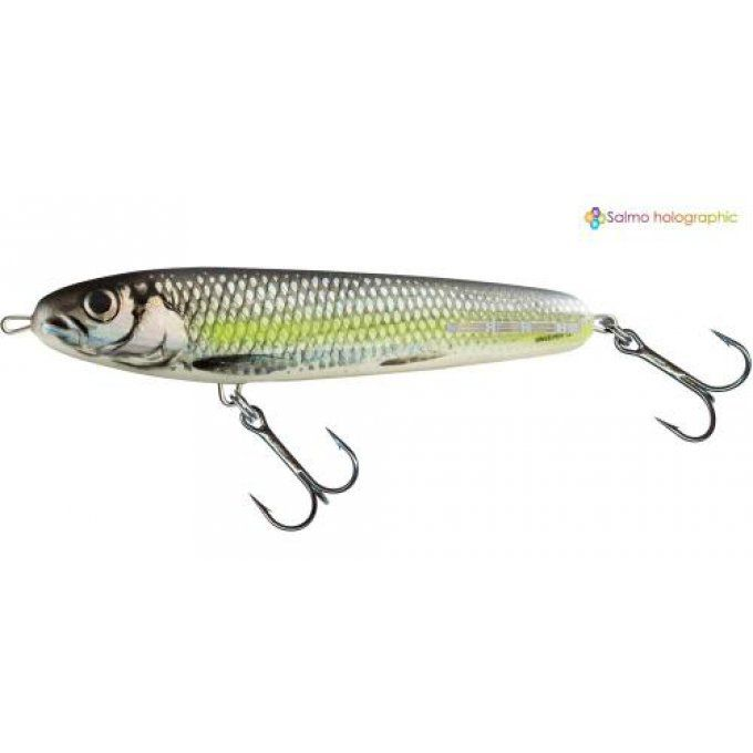 SWEEPER SINKING 10 CM - SILVER CHARTREUSE SHAD
